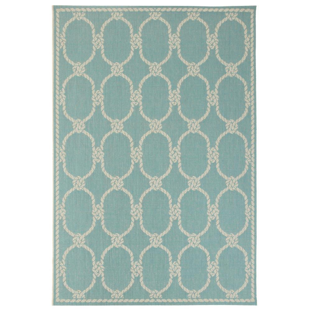 Home Decorators Collection Shore Teal 8 Ft 6 In X 13 Ft Indoor Outdoor Area Rug 9949050330