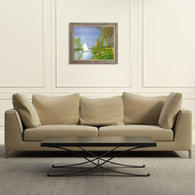 La Pastiche 29 In X 25 In Small Boat On The Small Branch Of The Seine At Argenteuil With Grey Frame By Monet Framed Wall Art Mon4266 Fr 8375720x24 The Home Depot