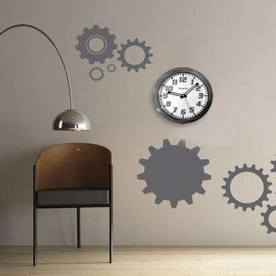 7 3/4 in. Black Translucent Wall Clock