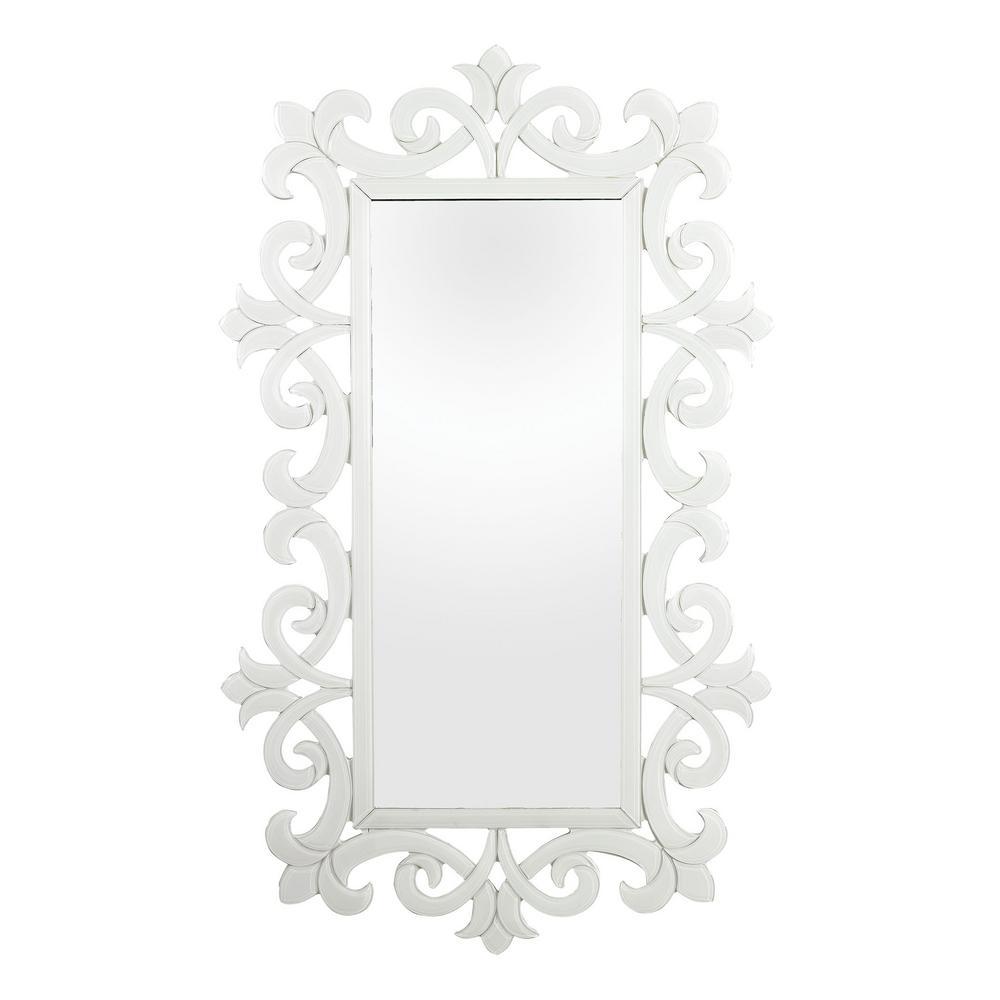 Haylee 45 in x 27 in. Glass Scroll Work Framed Mirror