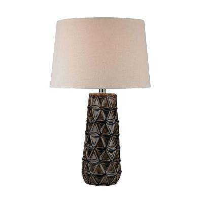 26 in. Stacked Brown Pedals Table Lamp