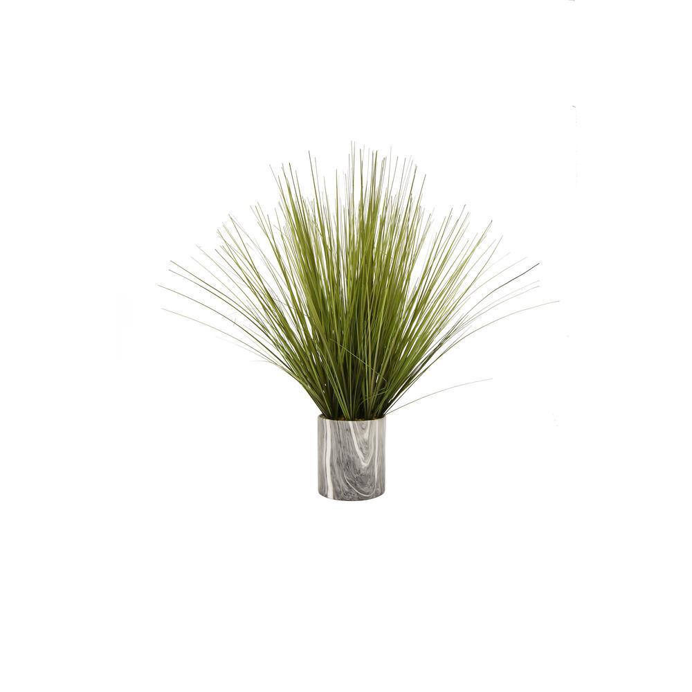 THREE HANDS Faux Grass Pot