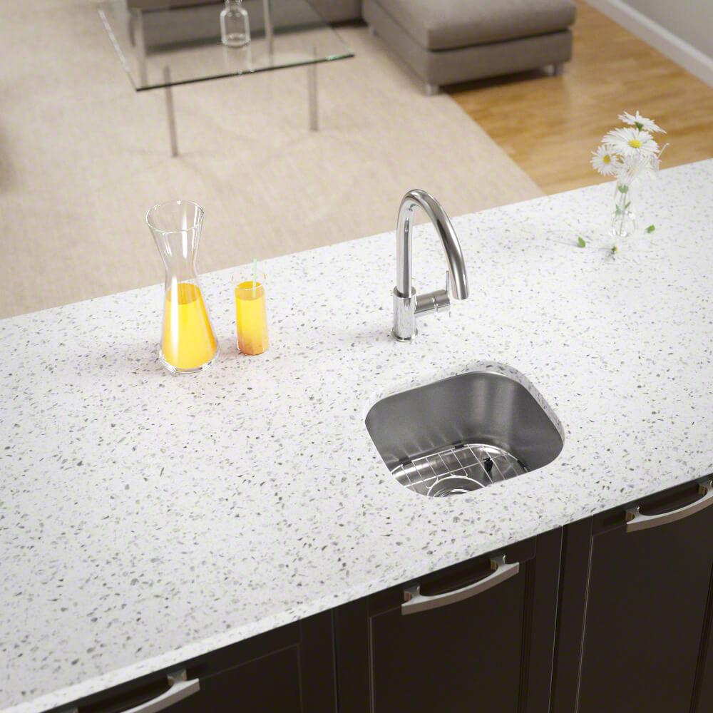 MR Direct All-in-One Undermount Stainless Steel 15 in. Single Bowl Bar Sink