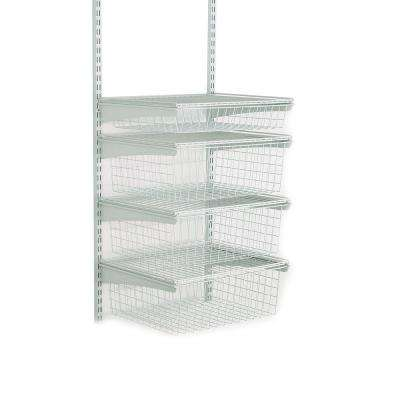 17 in. D x 21 in. W x 27 in. H ShelfTrack 4-Drawer Kit Steel Closet System in White