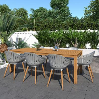 Fulton 9-Piece Wood Outdoor Dining Set