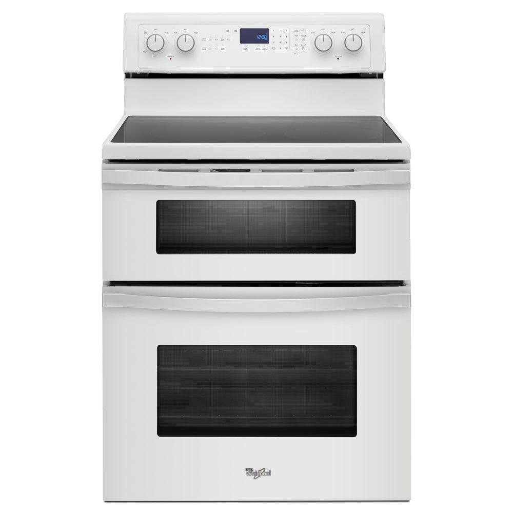 Whirlpool 6.7 cu. ft. Double Oven Electric Range with Self-Cleaning Oven in White