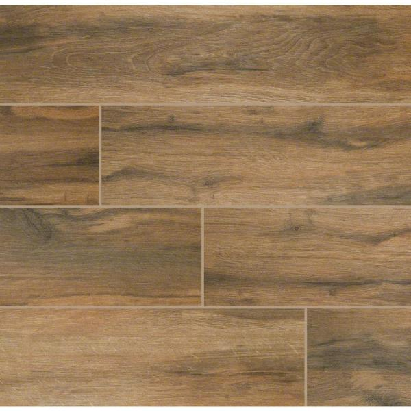 Botanica Cashew 6 in. x 24 in. Matte Porcelain Floor and Wall Tile (10 sq. ft. / case)