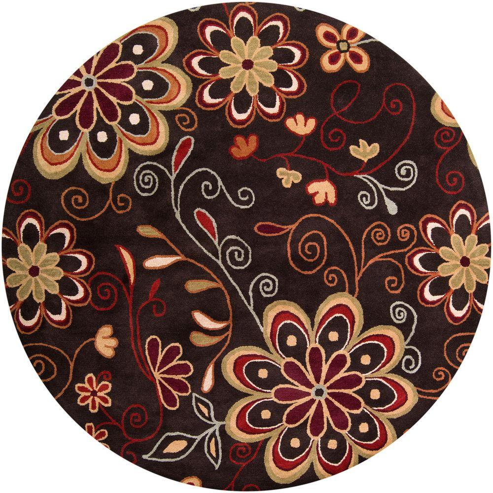 Artistic Weavers Sarah Brown 8 ft. x 8 ft. Round Area Rug