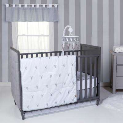 Stag Head 3-Piece Crib Bedding Set