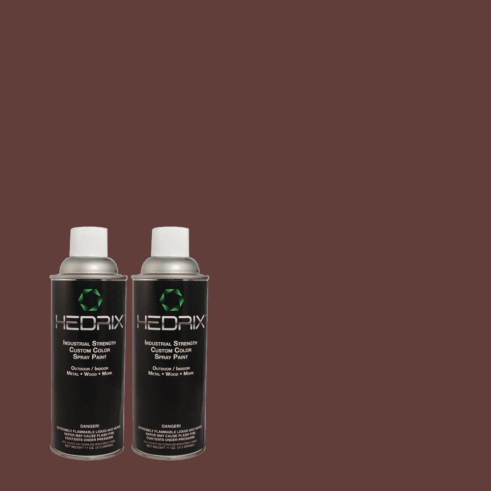 Hedrix 11 oz. Match of 30RR07/094 Black Currant Gloss Custom Spray Paint (2-Pack)