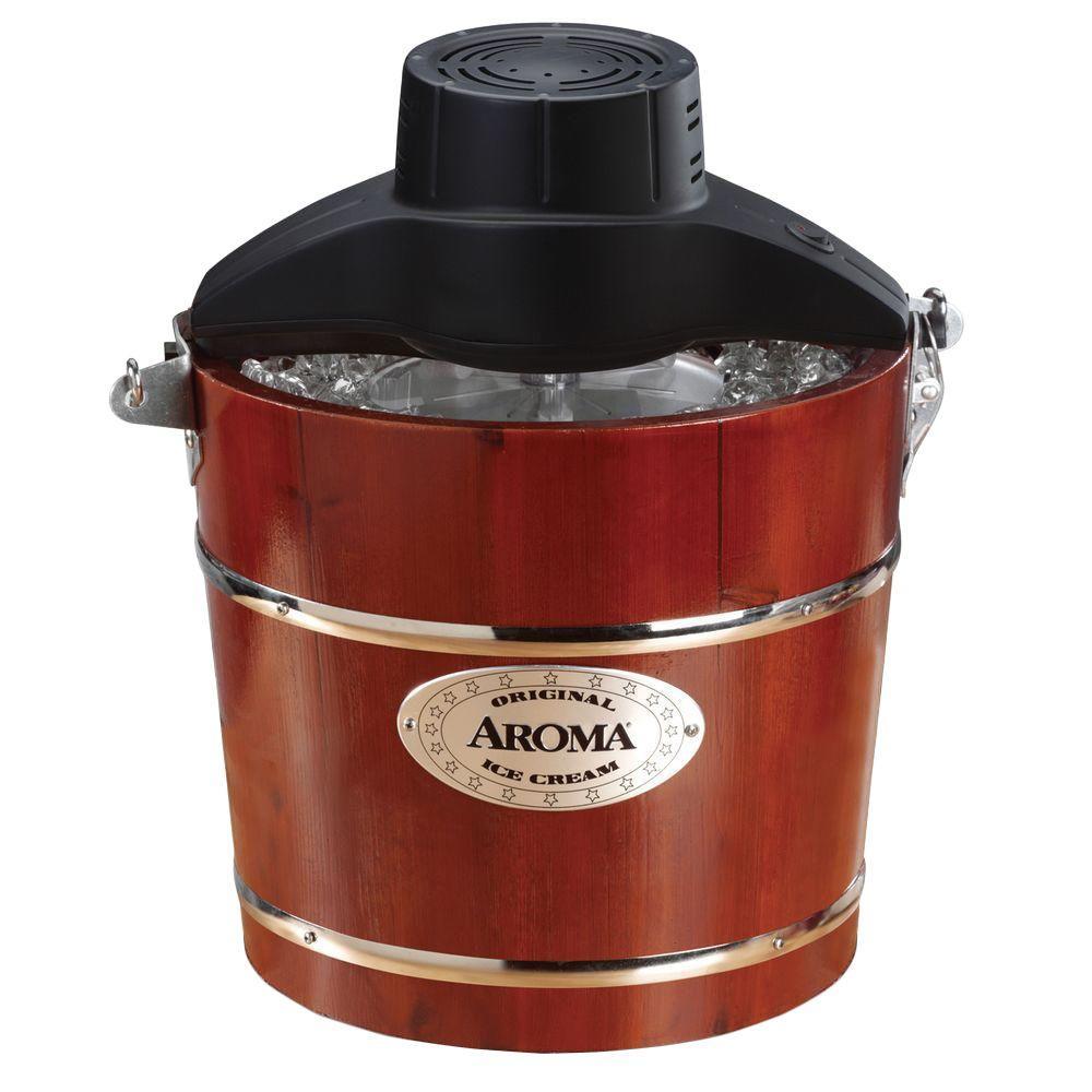 AROMA 4 qt. Wooden Ice Cream Maker