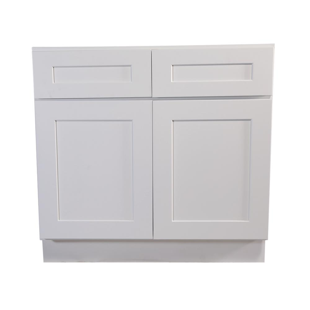 Design House Brookings Fully Assembled In Kitchen Base Cabinet In White 613208 The