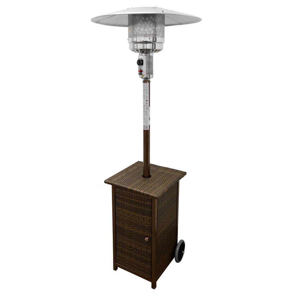 AZ Patio Heaters 48,000 BTU Square Wicker Gas Patio Heater