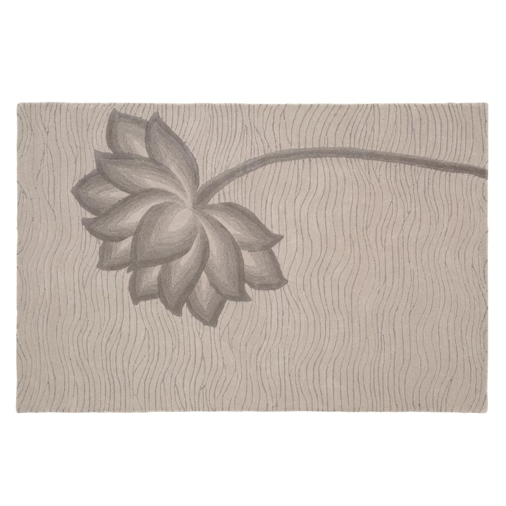 Home Decorators Collection Blooms Gray and Gray 5 ft. 3 in. x 8 ft. Area Rug