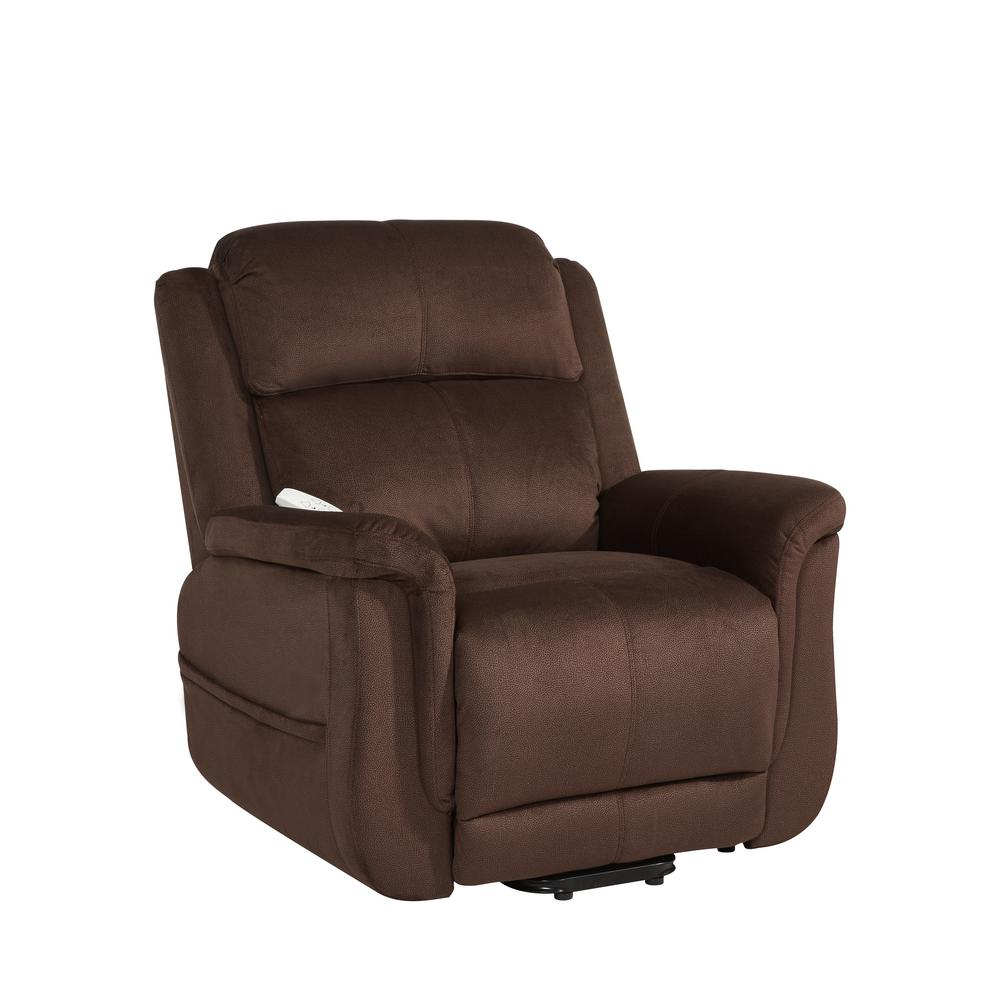 Serta Walnut Comfort Lift Recliner Wellspring Walnut Product Photo