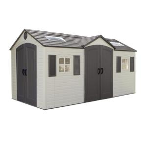 Lifetime Installed 15 ft. x 8 ft. Double Door Storage Plastic Shed by Lifetime