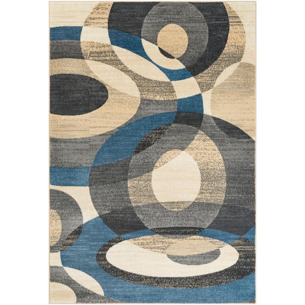 Tuscan Viga Chevron Denim Rug: Artistic Weavers Silas Denim 5 Ft. 3 In. X 7 Ft. 6 In