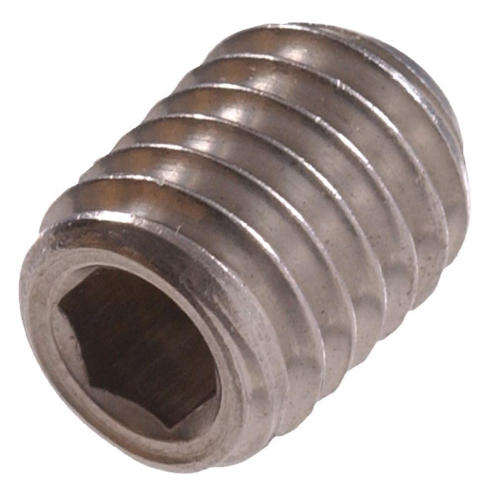 M6-1.00 x 8 Stainless-Steel Socket Set Screw (10-Pack)