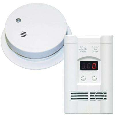 Plug-In Gas CO Detector and Battery Operated Ionization Smoke Alarm
