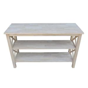 Remarkable International Concepts Hampton Unfinished Console Table Ot Pdpeps Interior Chair Design Pdpepsorg