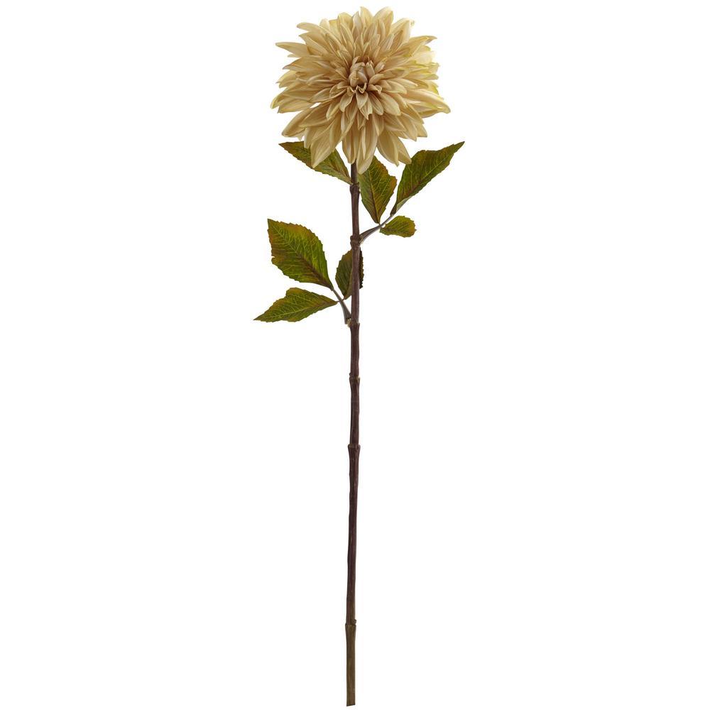 Indoor 28 in. Dahlia Artificial Flower (Set of 6)