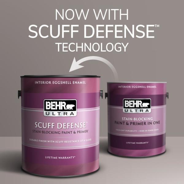 Reviews For Behr Ultra 1 Gal Ppl 53 Soft Violet Extra Durable Eggshell Enamel Interior Paint Primer 275001 The Home Depot