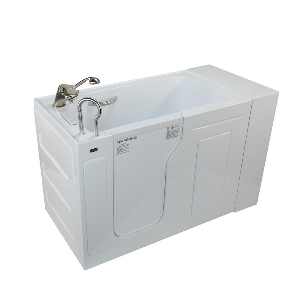 51 in. Max Acrylic Whirlpool and Air Walk in Tub in