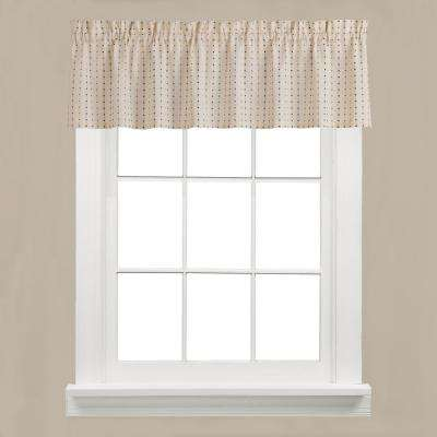 Hopscotch 13 in. L Polyester Valance in Neutral