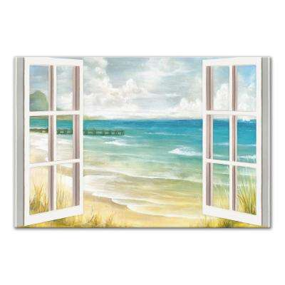 20 in. x 30 in. ''Open Windows to Beach Paradise'' Printed Canvas Wall Art