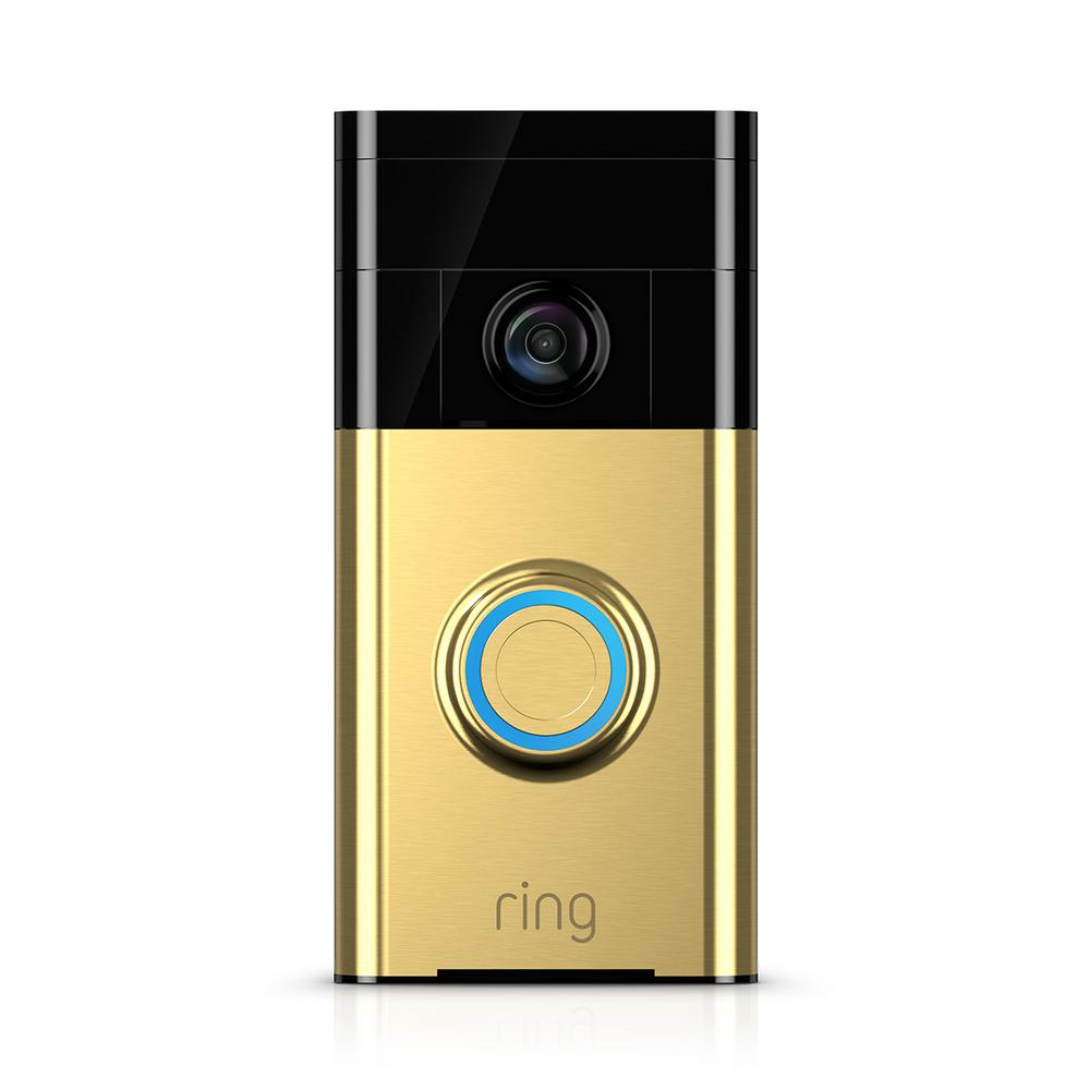 Ring Ring Wireless Video Doorbell, Polished Brass