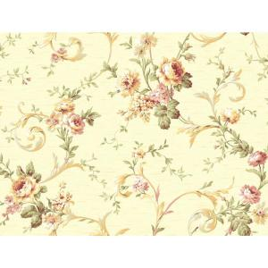 York Wallcoverings Floral Scroll Trail Wallpaper by York Wallcoverings