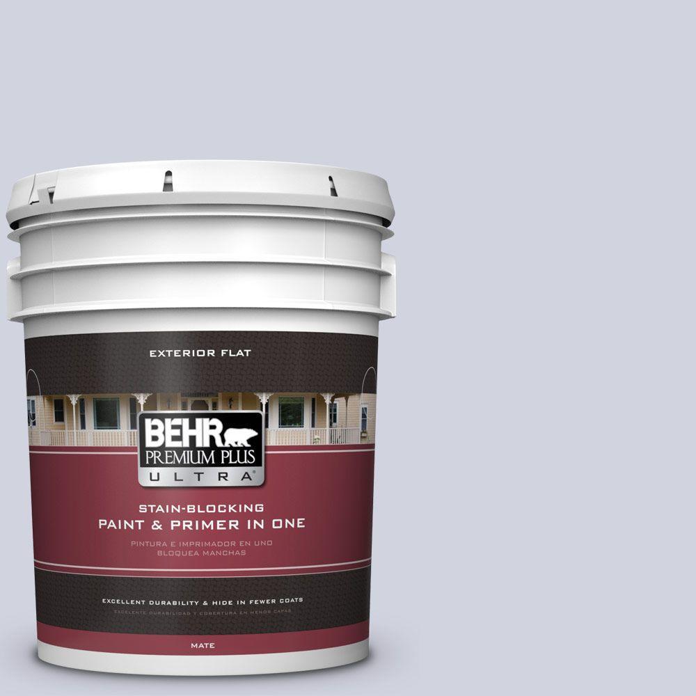 BEHR Premium Plus Ultra 5-gal. #S560-1 Courteous Flat Exterior Paint