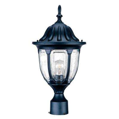 Suffolk 1-Light Matte Black Outdoor Post-Mount Fixture