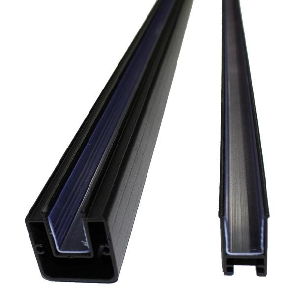 Vista Railing Systems Inc Vista 6 Ft Aluminum Stair Top And Bottom Rail Pack In Textured Black Pb7486xb0y The Home Depot