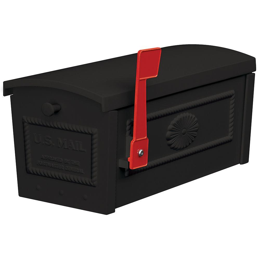 4500 Series Post Style Townhouse Mailbox in Black