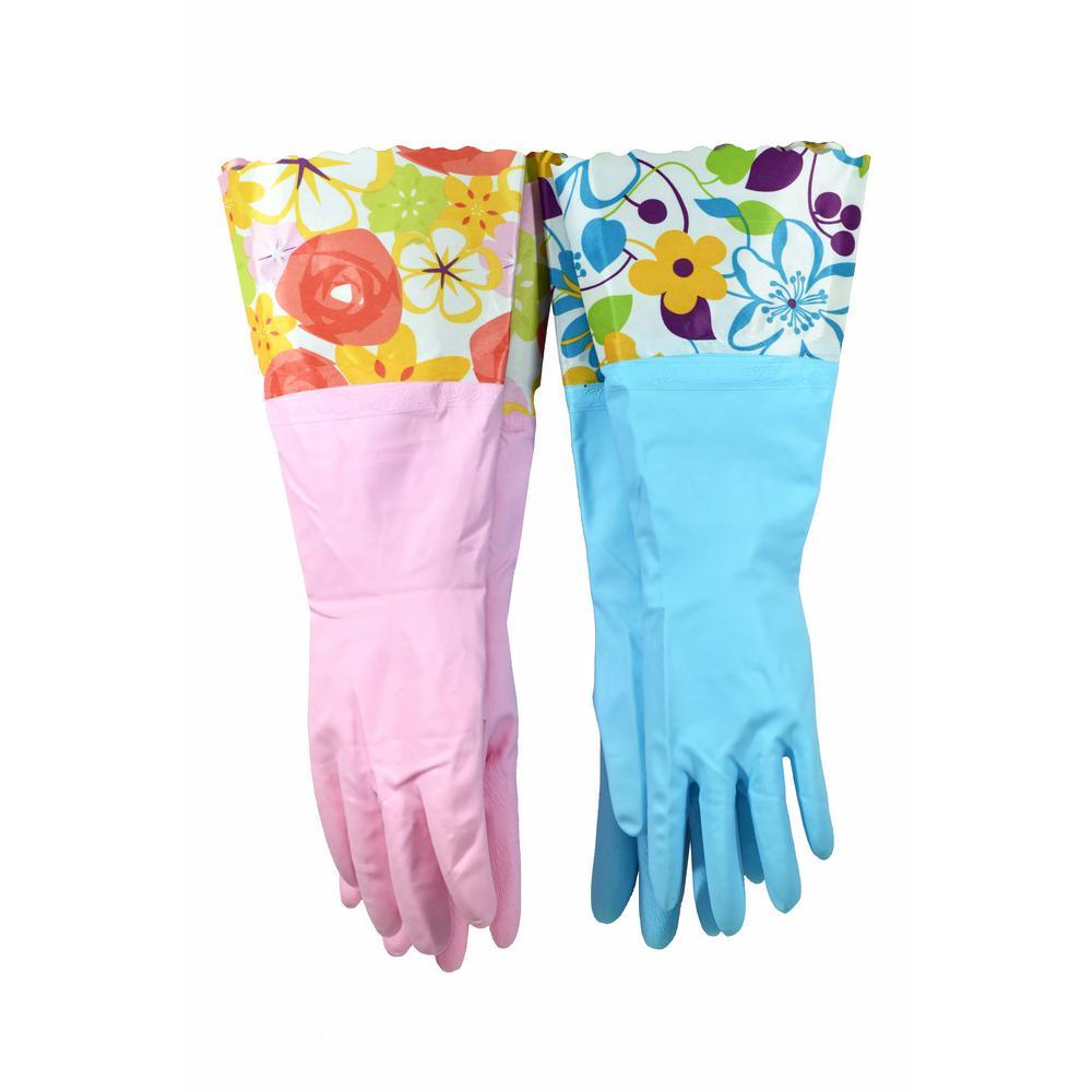 Medium Latex Free Premium Vinyl Household Gloves (2-Pair/Pack)