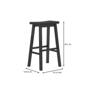 Superb Stylewell Stylewell Black Wood Saddle Backless Bar Stool Gmtry Best Dining Table And Chair Ideas Images Gmtryco