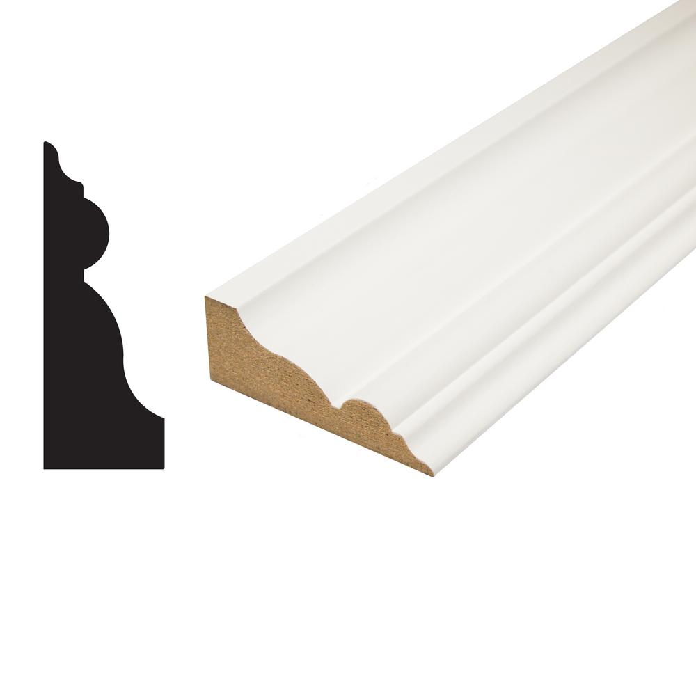 1 in. x 2-3/4 in. x 96 in. Primed MDF Crown