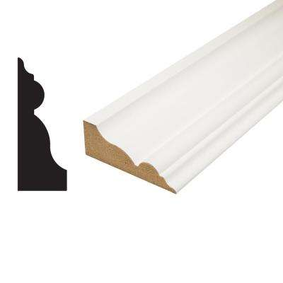 1 in. x 2-3/4 in. x 96 in. Primed MDF Crown Moulding