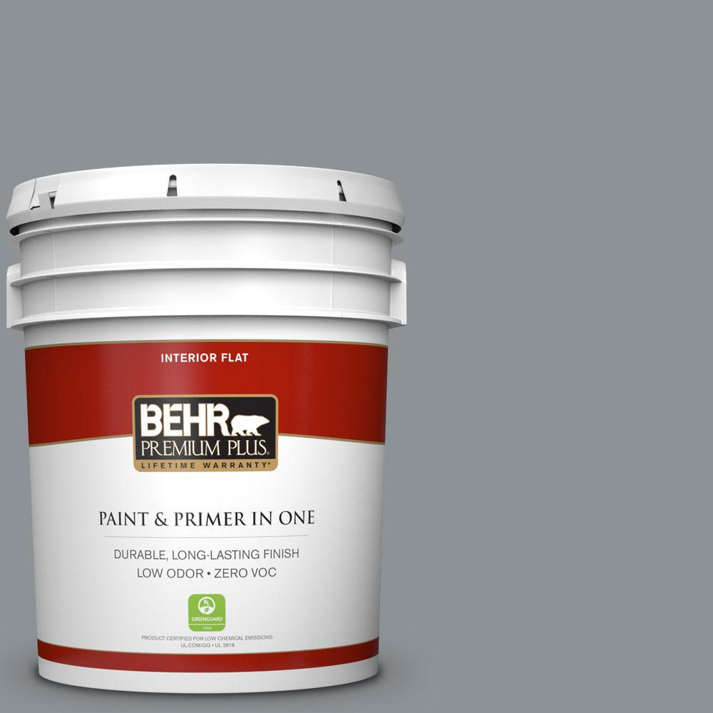 BEHR Premium Plus 5-gal. #770F-4 Gray Area Zero VOC Flat Interior Paint