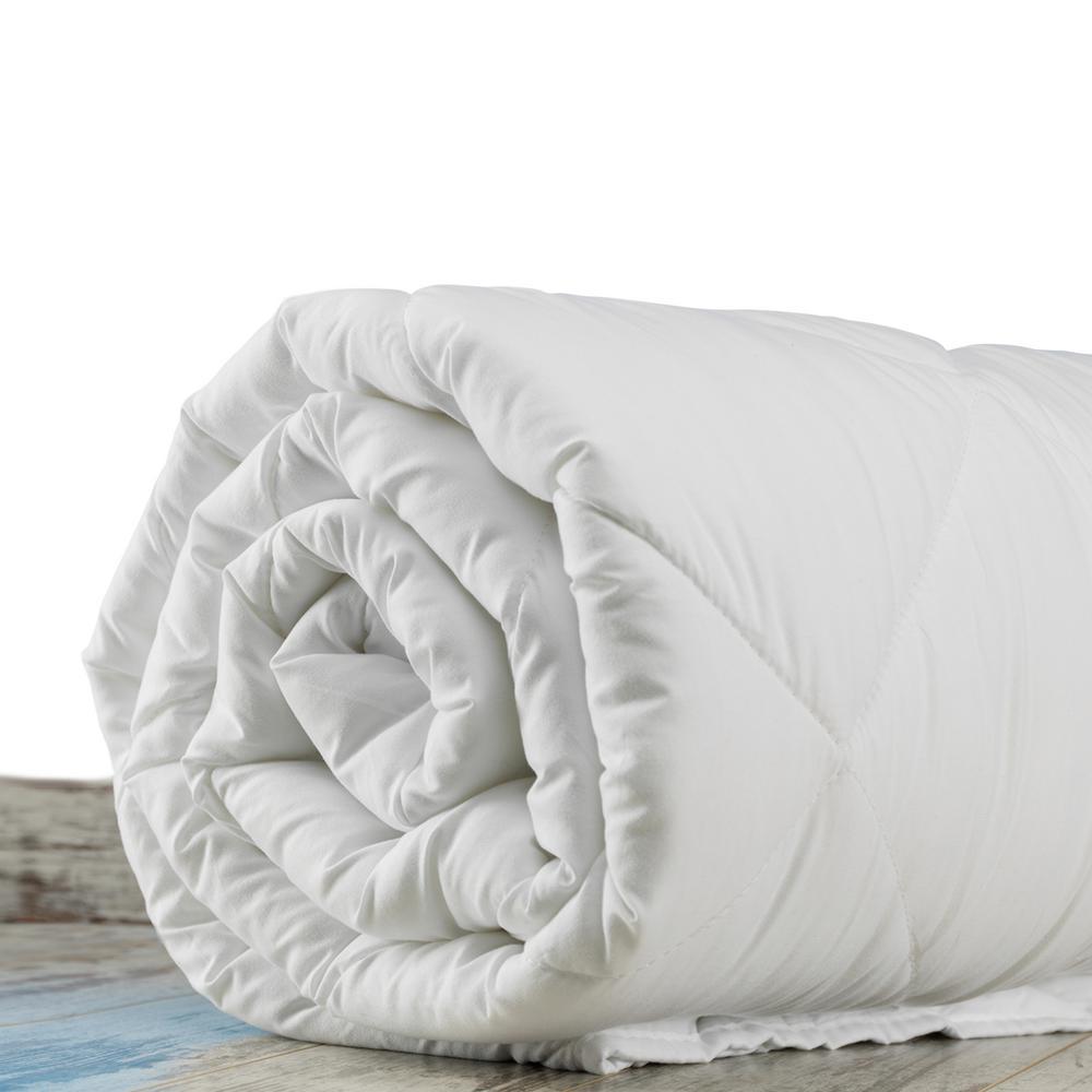 100% Pure New Zealand 200 GSM Wool Light Weight Summer Spring White Queen Certified Organic Cotton 8-Ties Duvet Insert