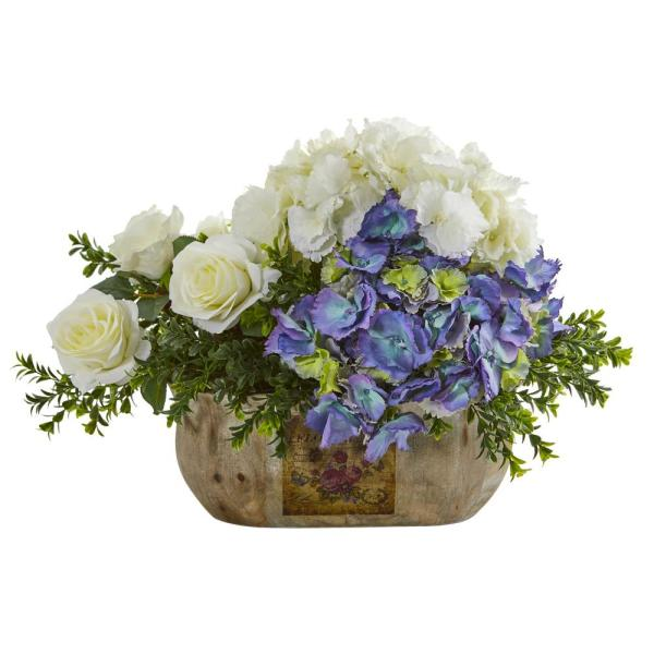 Nearly Natural Indoor Rose and Hydrangea Artificial Arrangement
