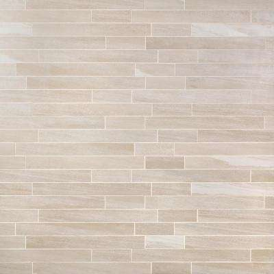 Sandstone Beige 12 in. x 24 in. 10mm Matte Porcelain Floor and Wall Mosaic Tile (6 pieces / 11.62 sq. ft. / box)