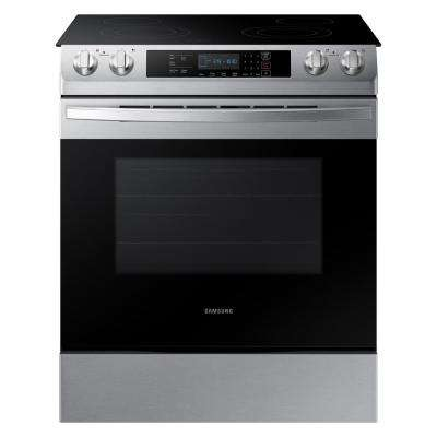 30 in. 5.8 cu. ft. Slide-In Electric Range with Self Cleaning Oven in Stainless Steel
