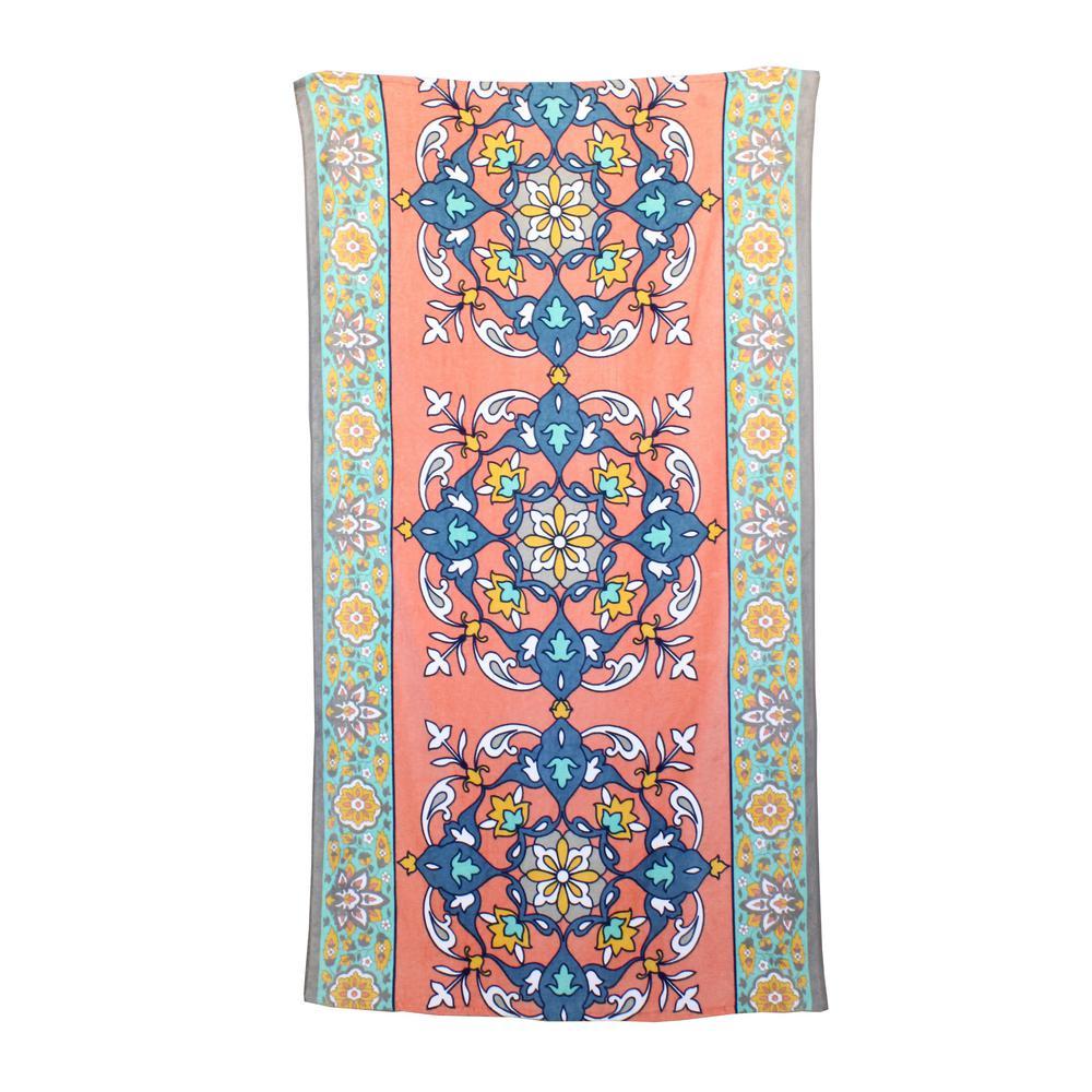 Moroccan Carpet 100% Cotton Printed Beach Towel