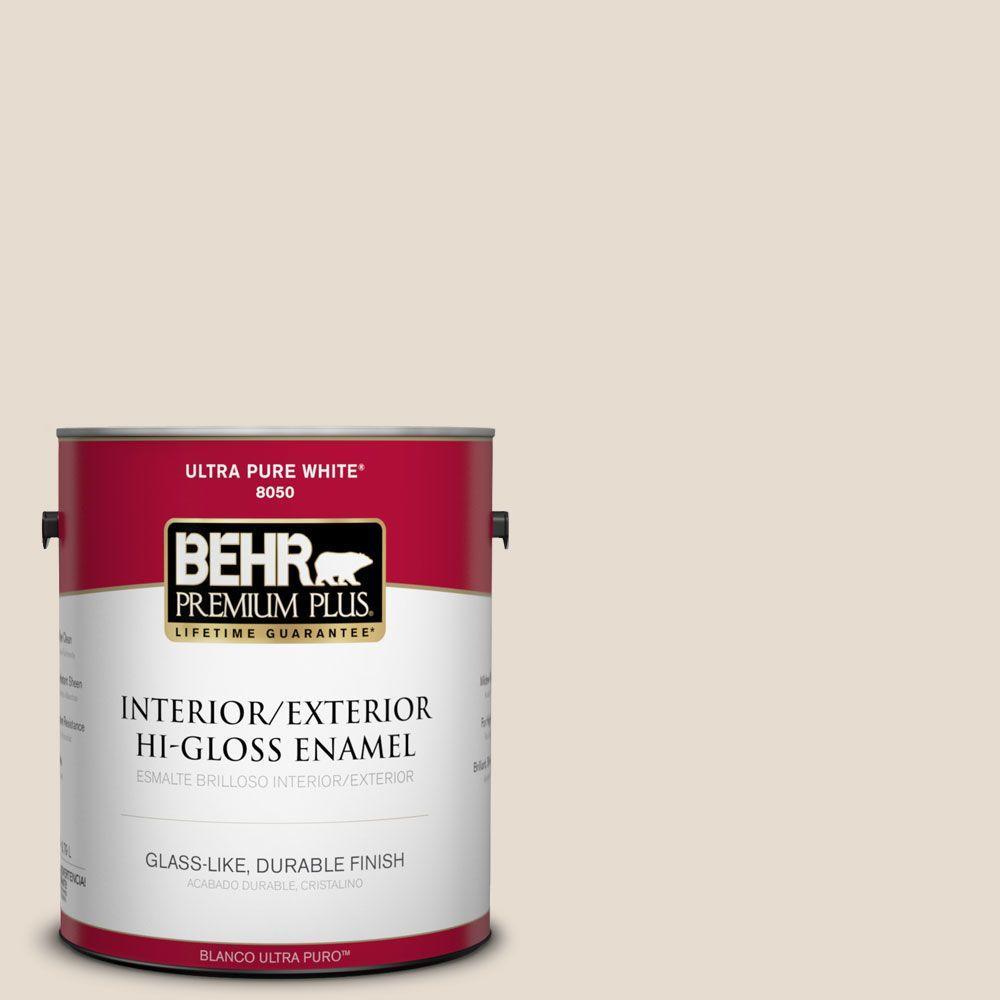 BEHR Premium Plus 1-gal. #PWN-62 Tuscan Beige Hi-Gloss Enamel Interior/Exterior Paint