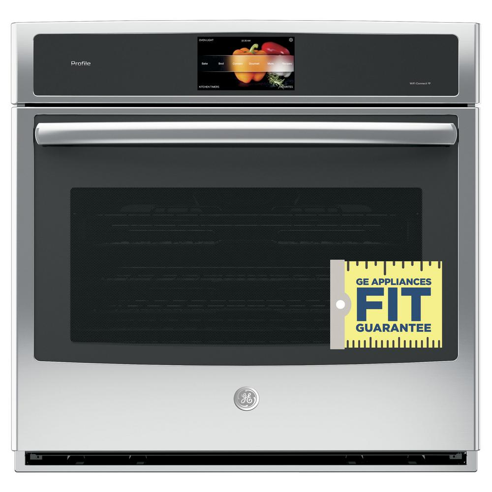 single wall oven ge profile 30 in single electric convection wall oven 10738