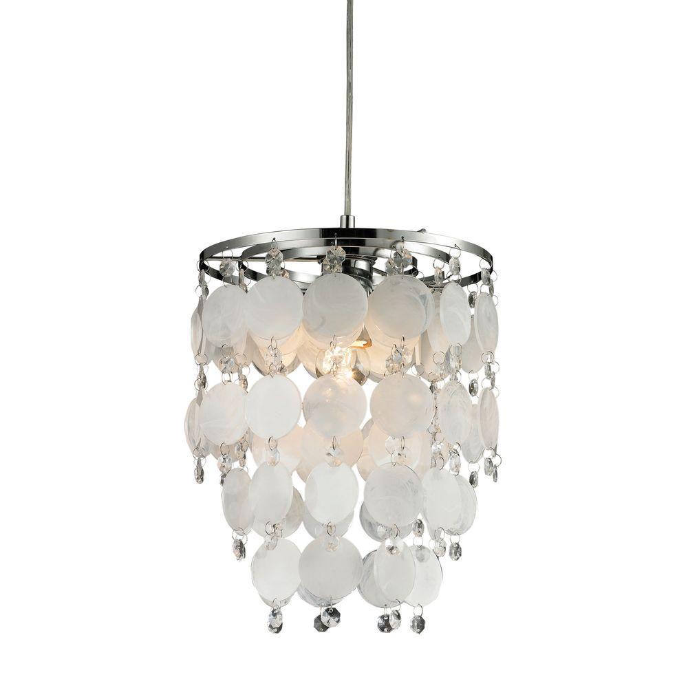 Montebello 1-Light Mother Of Pearl Mini Pendant
