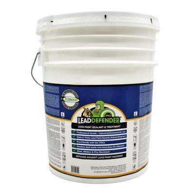 Lead Defender PRO 5-Gal Off White Flat Lead Based Paint Treatment and Sealant