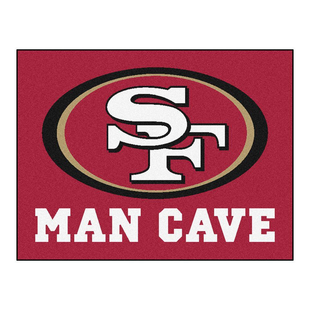 Fanmats San Francisco 49ers Red Man Cave 2 Ft 10 In X 3